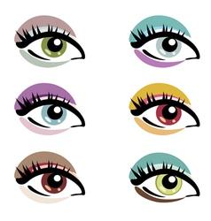 make up eyes vector image vector image