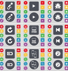 Microphone media play bug reload laptop media skip vector