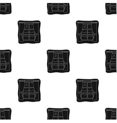 Night out the window icon in black style isolated vector