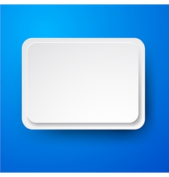 Paper white rectangular note on blue vector image vector image