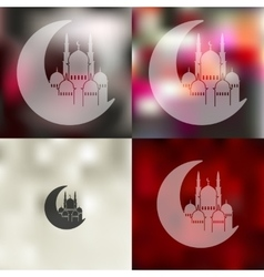 ramadan icon on blurred background vector image vector image