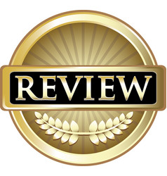 Review gold icon vector