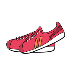 sneakers sport icon image vector image