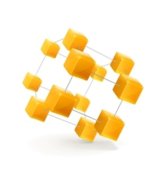 Structure of cubes icon vector image vector image