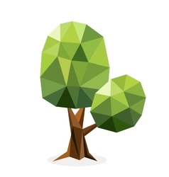 Stylized tree collection vector image vector image