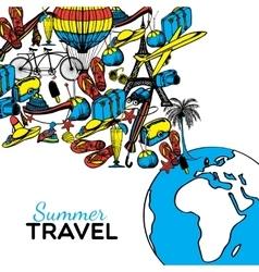 Travel Hand Drawn vector image vector image