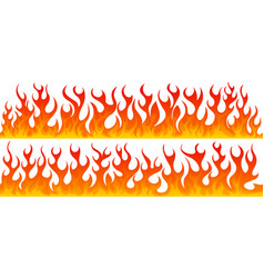 two line of seamless fire vector image vector image
