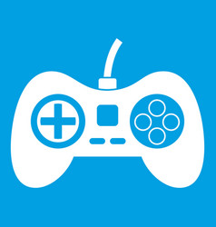 video game console controller icon white vector image vector image
