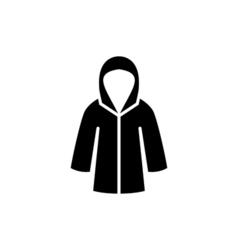 Woman raincoat Icon Flat vector image