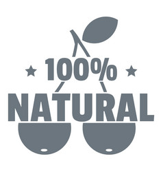100 percent natural logo simple style vector image