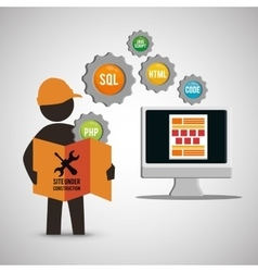 Site under construction design vector