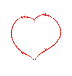 Scrawled heart vector