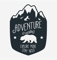 Outdoor expedition typography vector