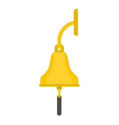 Golden ship bell icon isolated vector