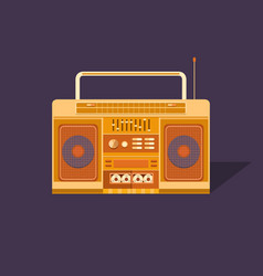 Cassette tape recorder vector