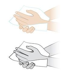 hand sanitization vector image