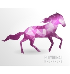 Abstract polygonal horse geometric hipster vector