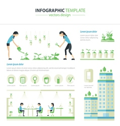 Eco office vector