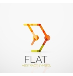 Logo - abstract minimalistic linear flat design vector image