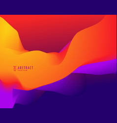 Abstract background with orange and blue 3d wavy vector