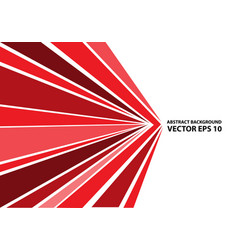 abstract red arrow speed line on white vector image