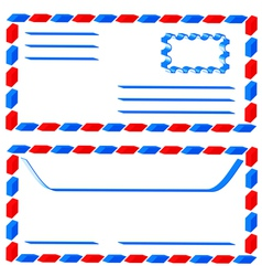 Airmail envelope vector image vector image