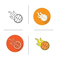 Basketball ball icons vector image