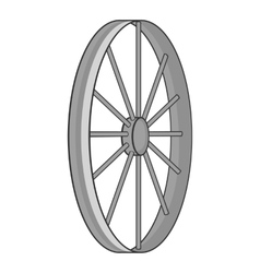 Bicycle wheel icon gray monochrome style vector