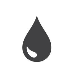 Black drop icon vector