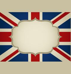Blank frame on united kingdom insignia vector