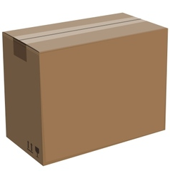cardboard box isolated vector image