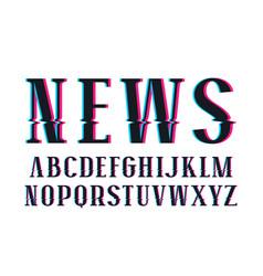 decorative serif font vector image