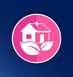 ECO house icon button logo symbol concept vector image