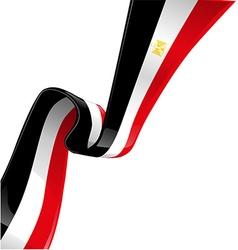 Egypt flag on white background vector