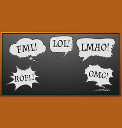 Expression words on blackboard vector