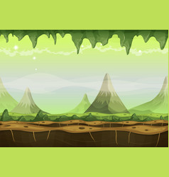 Fantasy sci-fi alien landscape for game ui vector