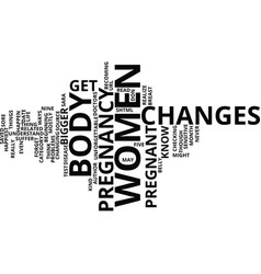 five ways to read your body s changes before vector image vector image