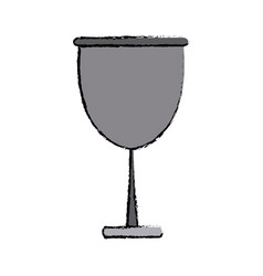 Glass cup beverage wine glassware vector