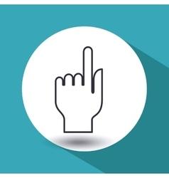 hand human design vector image