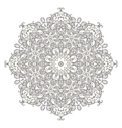 Lace mandala ornament vector image