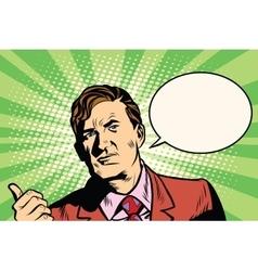 Male businessman portrait poster vector image vector image