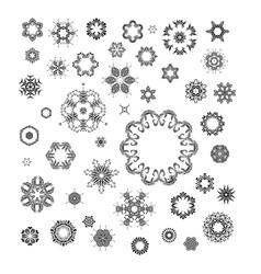 mandala round ornament set vector image vector image