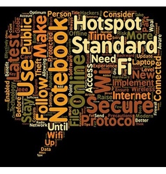 Notebook and wifi standards text background vector