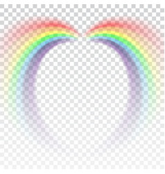 rainbow icon cartoon isolated white background vector image vector image