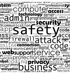 Safety programming backgroynd vector