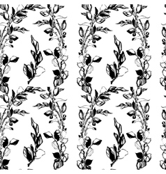samless plant floral pattern Abstract vector image vector image