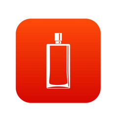 Scent bottle icon digital red vector