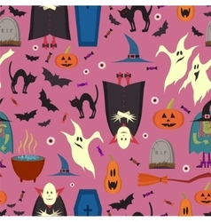seamless pattern for Halloween in cartoon vector image vector image
