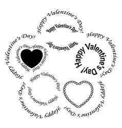 set of black frames - happy valentine day vector image vector image