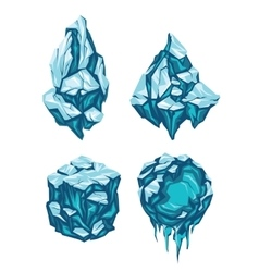 Set of Ice Blocks vector image